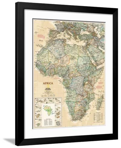 National Geographic Africa Map, Executive Style--Framed Art Print