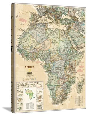 National Geographic Africa Map, Executive Style--Stretched Canvas Print
