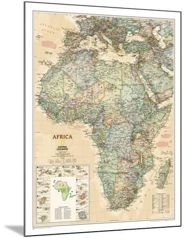 National Geographic Africa Map, Executive Style--Mounted Poster