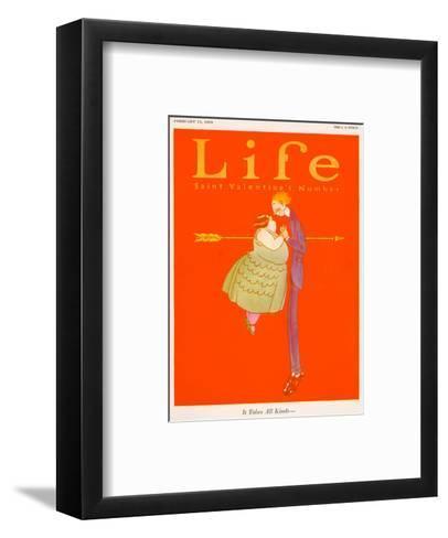 Valentines Day Life Cover--Framed Art Print