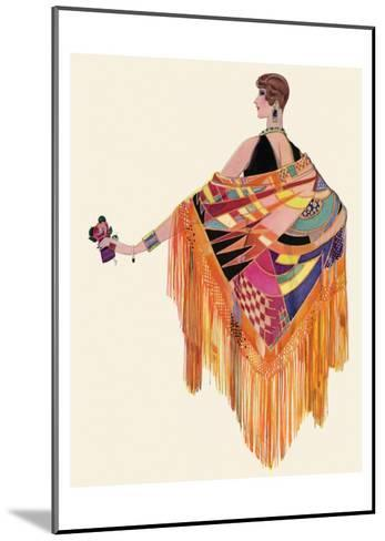 Art Deco Lady in a Colourful Dress--Mounted Art Print