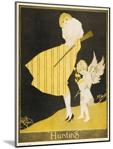 Lady and Cupid Hunting--Mounted Art Print