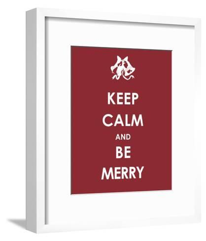 Keep Calm and be Merry--Framed Art Print