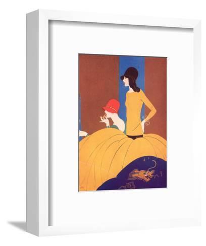Art Deco Two Women Doing Make Up.--Framed Art Print