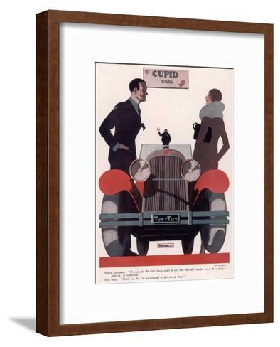 Art Deco Cupid Cars--Framed Art Print