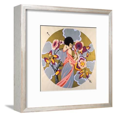 Art Deco Female in a Circle--Framed Art Print