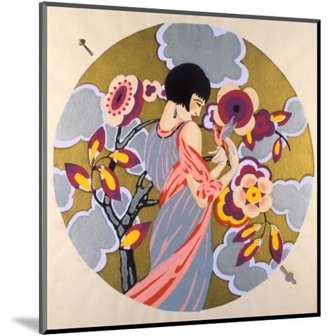 Art Deco Female in a Circle--Mounted Art Print