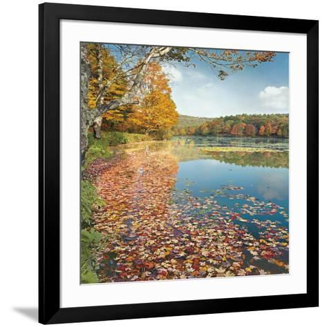 Bass Lake In Autumn II-Marty Hulsebos-Framed Art Print