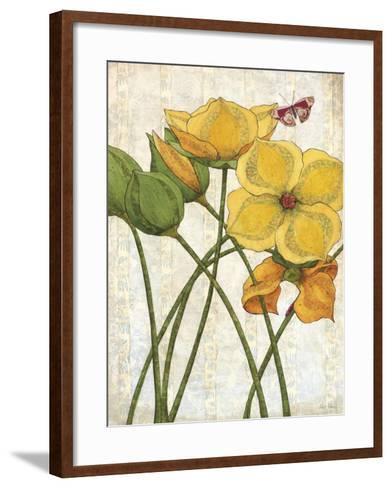 Yellow Flowers-Karen Sikie-Framed Art Print
