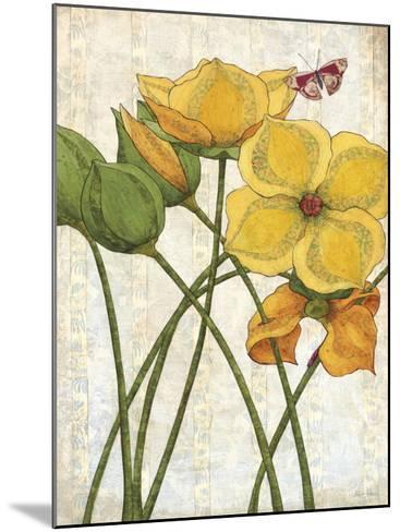 Yellow Flowers-Karen Sikie-Mounted Art Print