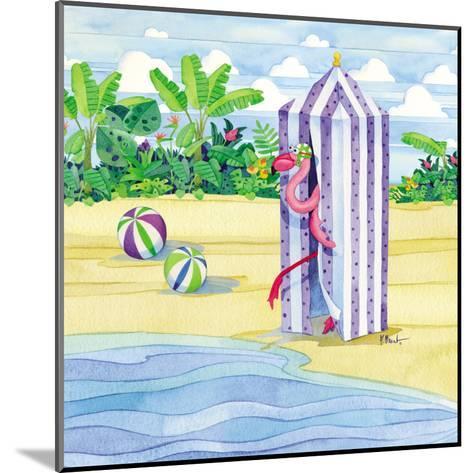 Cabana Flamingo-Paul Brent-Mounted Art Print