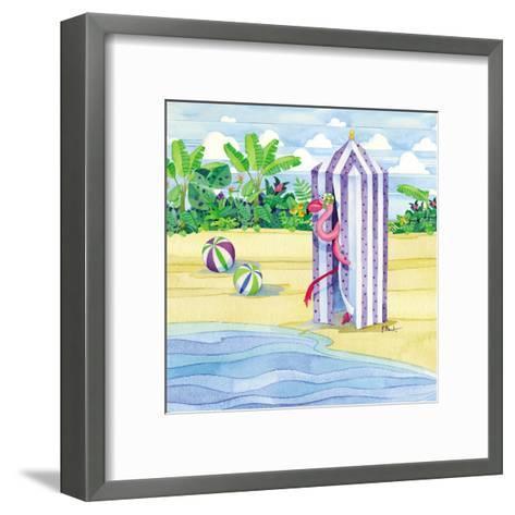 Cabana Flamingo-Paul Brent-Framed Art Print