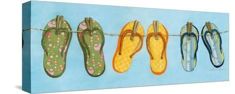 Flip Flops I-Charlene Winter Olson-Stretched Canvas Print