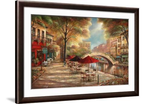 Riverwalk Café-Ruane Manning-Framed Art Print
