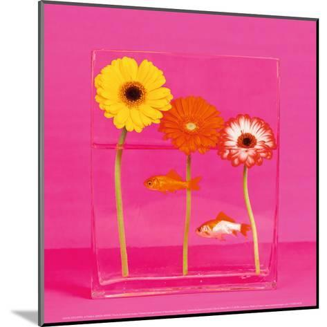 Flowers and Gold Fishes I-Camille Soulayrol-Mounted Art Print