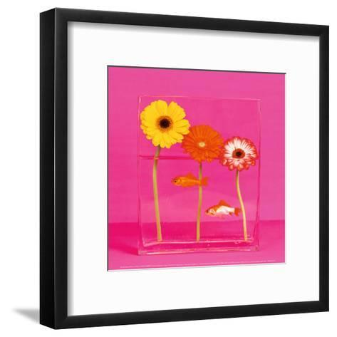 Flowers and Gold Fishes I-Camille Soulayrol-Framed Art Print