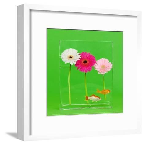 Flowers and Gold Fishes II-Camille Soulayrol-Framed Art Print