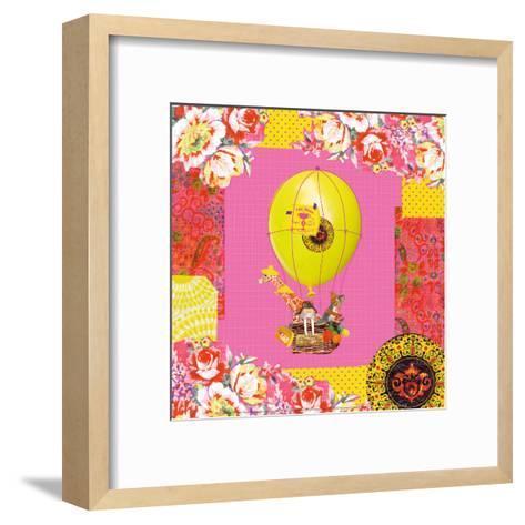 Hot-Air Balloon Trip-Mademoiselle Tralala-Framed Art Print