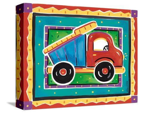 Dump Truck-Alison Jerry-Stretched Canvas Print