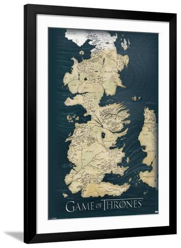 Game of Thrones-Map--Framed Art Print