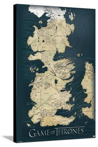 Game of Thrones-Map--Stretched Canvas Print