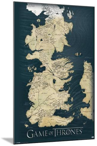 Game of Thrones-Map--Mounted Poster