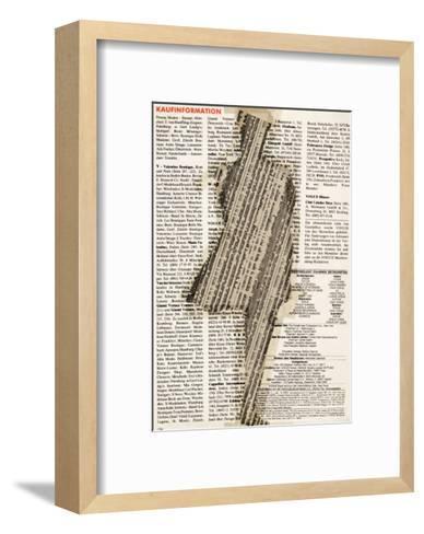 Shape III, Collage, 1992-J?rg Geismar-Framed Art Print