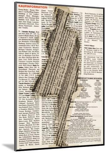 Shape III, Collage, 1992-J?rg Geismar-Mounted Art Print