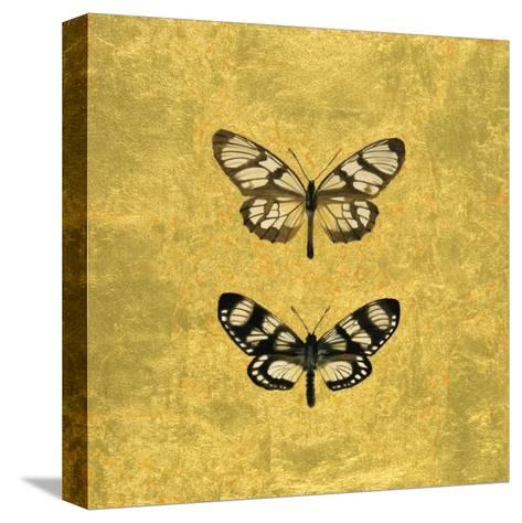 Pair of Butterflies on Gold-Joanna Charlotte-Stretched Canvas Print