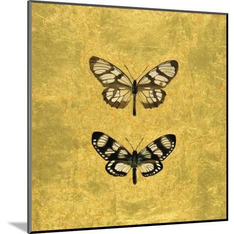 Pair of Butterflies on Gold-Joanna Charlotte-Mounted Art Print