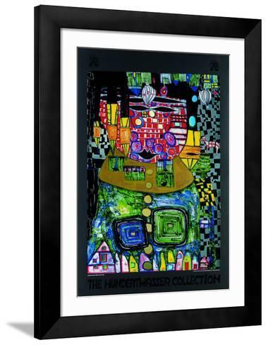 50.37-Friedensreich Hundertwasser-Framed Art Print