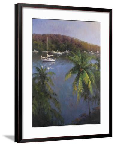 Caribbean Lagoon-Karen Dupr?-Framed Art Print