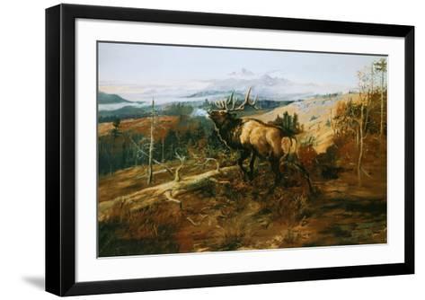 The Elk-Charles Marion Russell-Framed Art Print