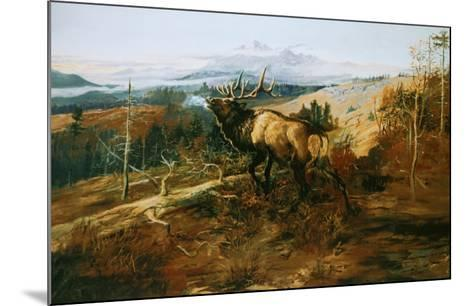 The Elk-Charles Marion Russell-Mounted Art Print
