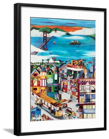 Hills of San Francisco-Linnea Pergola-Framed Art Print