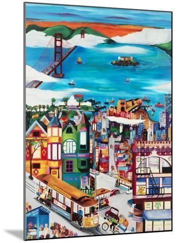 Hills of San Francisco-Linnea Pergola-Mounted Art Print