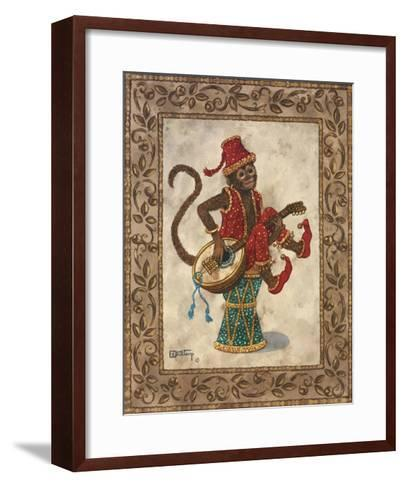Monkey with Mandolin-Janet Kruskamp-Framed Art Print