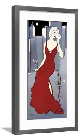 La Dame en Rouge-Janet Kruskamp-Framed Art Print