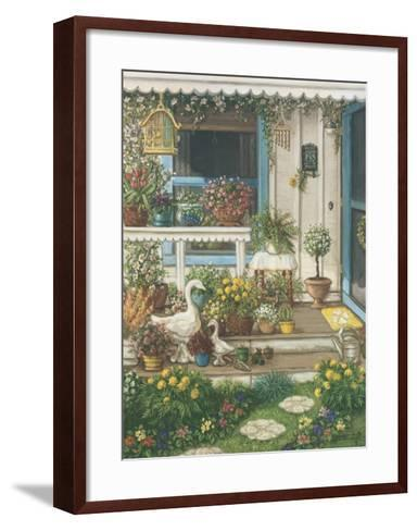 Spring Front Porch-Janet Kruskamp-Framed Art Print