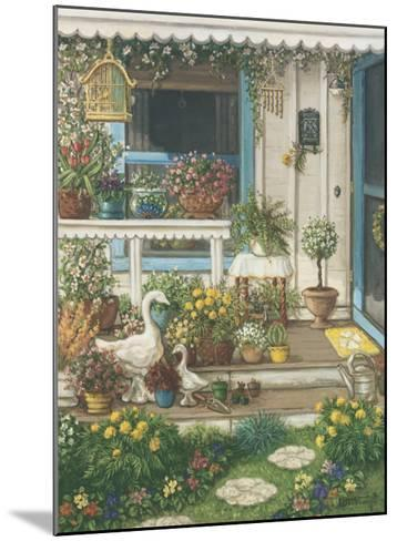 Spring Front Porch-Janet Kruskamp-Mounted Art Print