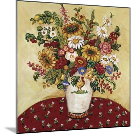 Rooster Vase Floral-Suzanne Etienne-Mounted Art Print
