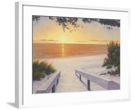Evening Sunset-Diane Romanello-Framed Art Print