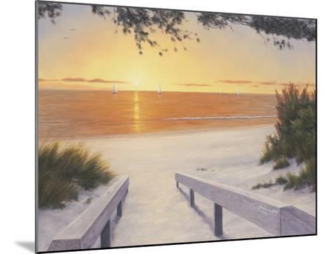 Evening Sunset-Diane Romanello-Mounted Art Print