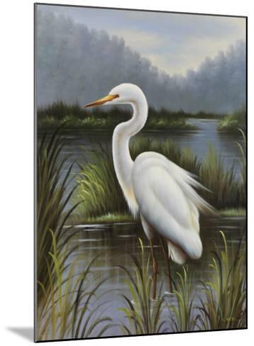 Morning Egret-Kilian-Mounted Art Print