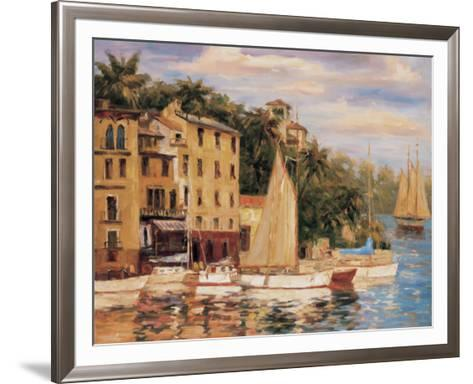 San Miguel Harbor-Enrique Bolo-Framed Art Print