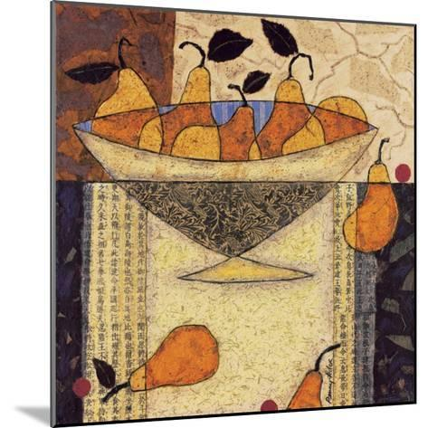 Asian Pears In Bowl-Penny Feder-Mounted Art Print