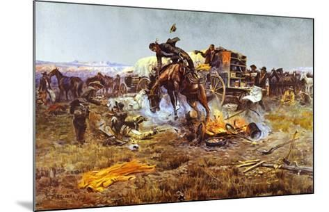 Camp Cook's Troubles-Charles Marion Russell-Mounted Art Print