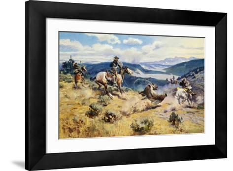 Loops and Swift Horses Are Surer Than Lead-Charles Marion Russell-Framed Art Print
