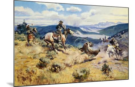 Loops and Swift Horses Are Surer Than Lead-Charles Marion Russell-Mounted Art Print