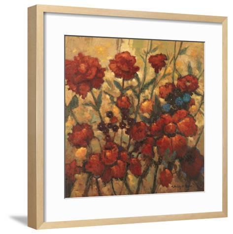 Flower Garden in Bloom-Kanayo Ede-Framed Art Print